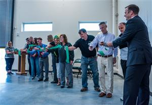 District leaders, FHS staff and students as well as project managers cut ribbon July 25 at FHS