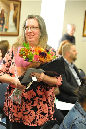 Adriane Jasper is honored as a Teacher of the Year Sept. 12.