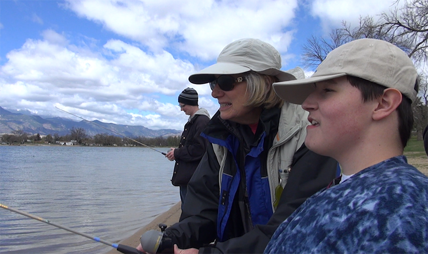 District 49 Special Needs Students Learn Fishing Skills