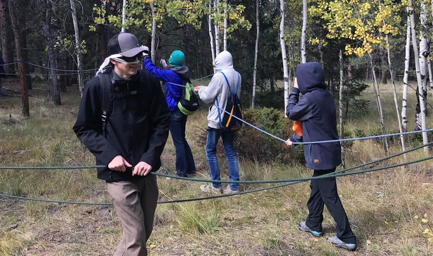 PPEC students test their skills on ropes course at High Trails Outdoor Education Center Sept. 25.