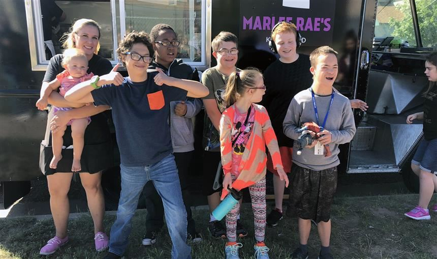 Skyview students with disabilities get a visit from Marlee Ray's Food Truck Sept. 11.