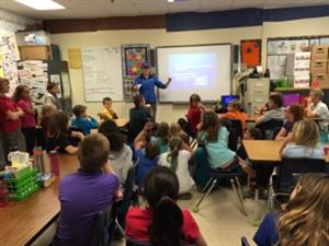 PPSEL students learn about weather from KOAA News 5's Jessica Van Meter.