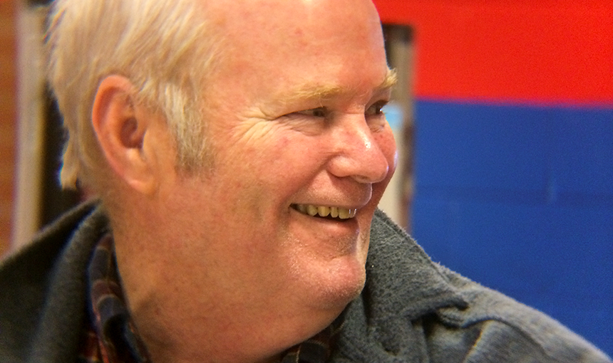 Jerry Simpson of Black Forest smiles at PLC's seventh Annual Senior Citizens Feast.