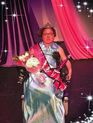 FMS student is crowned queen for the preteen group at the Colorado Miss Amazing pageant March 30.