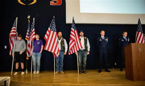 The audience recognized two D49 alumni who were killed in action while serving in the U.S. military during the MFAD event.