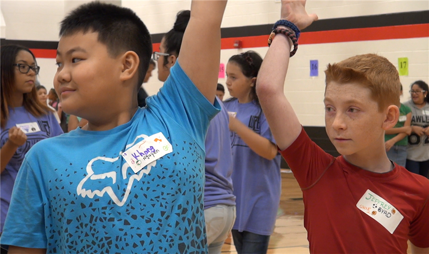 Sixth-Grade Students Join Panther Den at Horizon Middle School