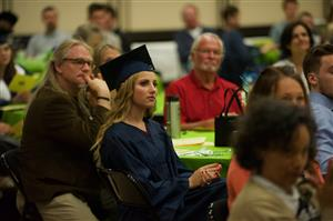 PPEC Grads listen to guest speakers during graduation ceremony