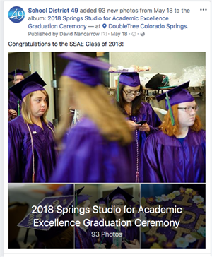 SSAE Graduation Photos on Facebook