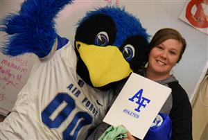 Kortney Sorensen is recognized by AFA Sept. 23 at FHS.