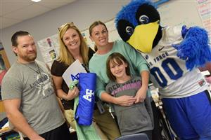 Amy Levi is honored by the AFA Sept. 23 as an Extra Yard for Teachers winner.