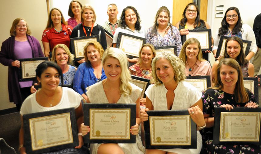 Teachers of the Year honored during Fantastic 49 Aug. 8.