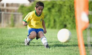 Thiago Camargo, a homeschool student, visited EIES for a SeSSI soccer game on July 2