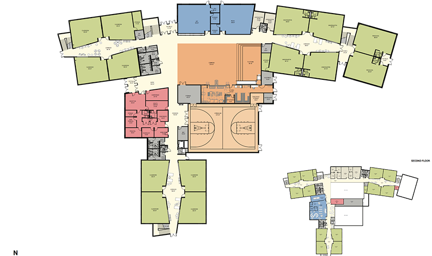 DLR Group floor plans for the new POWER Zone Elementary School to open Aug. 2019.