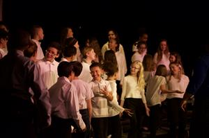 "The SMS 6th Grade Chorus performs ""Good News"" during the MLK Celebration Concert in April"
