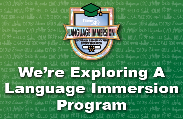 Language immersion survey graphic