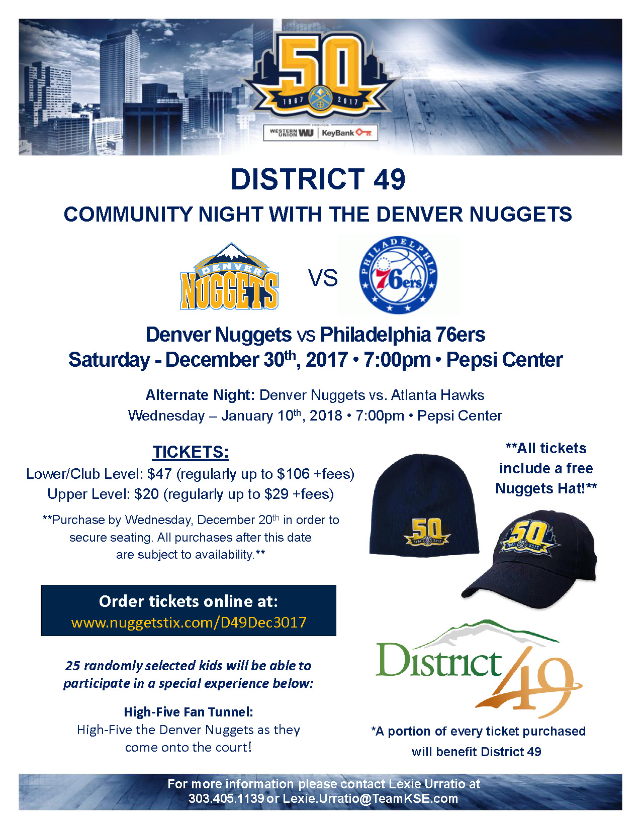 DISTRICT 49: COMMUNITY NIGHT WITH THE DENVER NUGGETS