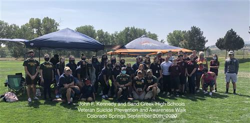 SCHS AFJROTC Supports Race Against Suicide