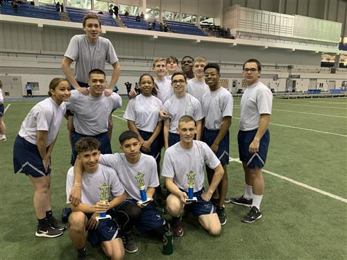 Cadets at PT Competition