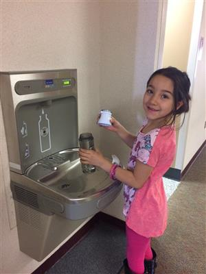 Student at Hydration Station