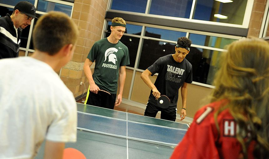 Students Serve Up Smiles During Ping Pong Tournament