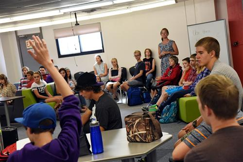 Falcon Homeschool Academic Program students begin the 2016-2017 school year in a new space at Falcon Legacy Campus Aug. 2.