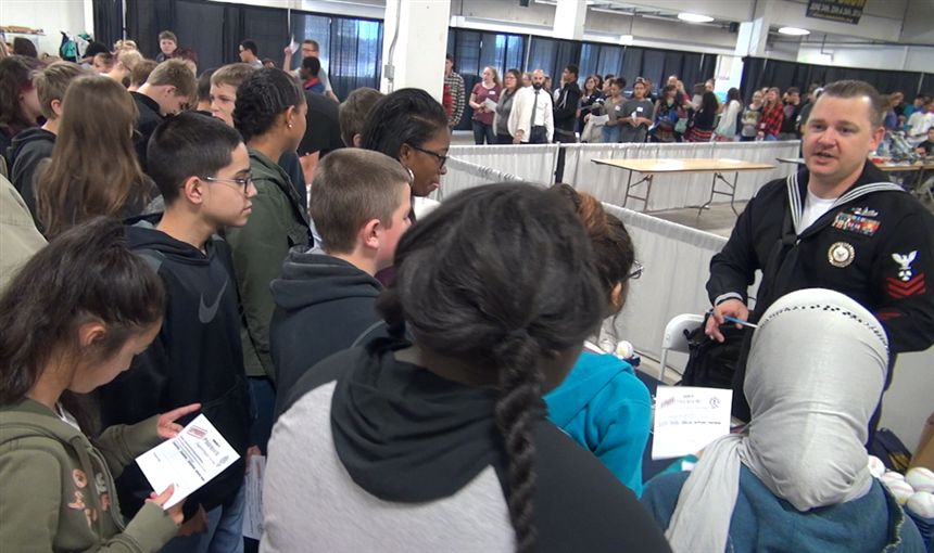 District 49 Middle School Students Explore Their Pathways at College and Career Fair